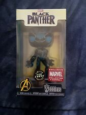 CHASE GLOW Black Panther Funko Marvel Collector Corps Exclusive Wacky Wobbler LE
