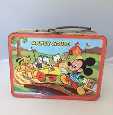 VINTAGE 1954 MICKEY MOUSE AND DONALD DUCK LUNCHBOX Rusty