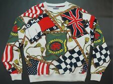 Rare VTG TOMMY JEANS Hilfiger Spell Out Flag All Over Capsule Sweatshirt 90s S