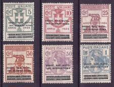 1924 REGNO D' ITALIA PARASTATALI NR.70/75 SERIETTA 6 VALORI NUOVO MNH**