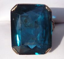 fine 14K  yellow gold 23 carat blue spinel ring  size 6