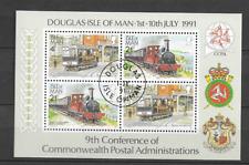 1991 USED Isle of Man, block