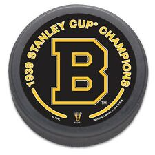 Boston Bruins 1939 Stanley Cup Champions NHL Collectors Puck