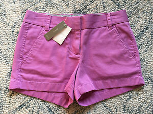 NWT J. Crew Light Purplish Pink Broken-In Chino Shorts - size 00