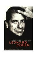 Stranger Music: Selected Poems Songs by Cohen Leonard Book The Fast Free