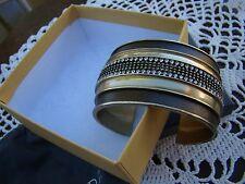 Silpada Leather, Brass, Swarovski Crystals Cuff Bracelet Krb0005 $89