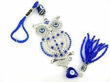 Beautiful Owl Crystal Evil Eye Prayer Wisdom Luck Charm for Car House Protection