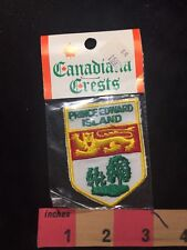 In Package PEI PRINCE EDWARD ISLAND Canada Coat Of Arms Crest Patch 87XD