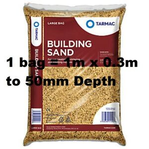 1 to 10 x Tarmac Building Sand Builders Polybag 25kg Bricklaying General Mortar