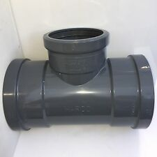"""HARCO SDR-26 SEWER PVC GASKET FITTING STRAIGHT TEE 8""""X6""""8"""" HEAVY WALL"""