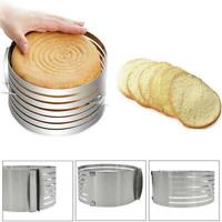 Adjustable Mousse Cake Ring Mold Layer Slicer Cutter Stainless Steel Mould Tool
