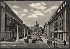 AA5296 Roma - Città - Via della Conciliazione - Animata - Cartolina - Postcard