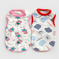 Cotton Dog Cat Shirt Small Printed Pet Puppy Vest Clothes Apparel for Small Dog
