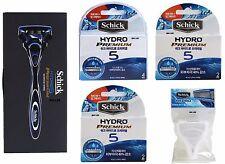 Schick Hydro Premium 5 Improved 1 Razor Handle + 9 Cartridges With Travel Cover