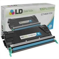 LD Remanufactured Lexmark C746A1CG Cyan Toner for C746/C748 Printer Series