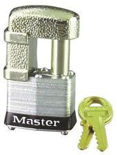"New Master Lock 37D Shrouded Laminated Steel Keyed Padlock 7/16"" X 1"" 6329791"