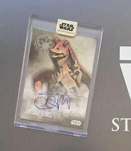 Star Wars Stellar 2020 Ahmed Best Jar Jar Binks Auto Card Number ONE 1/40