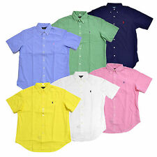 Polo Ralph Lauren Mens Buttondown Shirt Short Sleeve Woven Poplin S M L Xl Prl