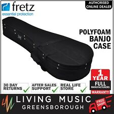 NEW Fretz Shaped Polyfoam Banjo Case (Black)