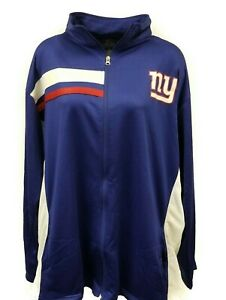New York Giants Women's NFL Majestic Full Zip Track Jacket Plus Size