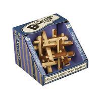 NEW Bamboozler Bamboozlers Wooden 3D Bamboo Puzzle Ball Puzzleball PANDA-MONIUM