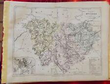 Old Map 1900 France Département Haute Loire le Puy Brioude Craponne ST Julien