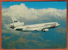 CARTE POSTALE - AVIATION - DC-10-30  - SCANDINAVIAN - EN VOL - SAS