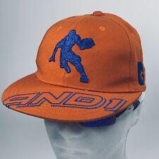 AND1 Hat Cap Orange Blue Basketball Golf Baseball Baller Snapback New