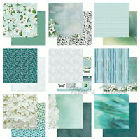 """Kaisercraft Morning Dew 12x12"""" - Double Sided Craft Scrapbooking Paper Blue"""