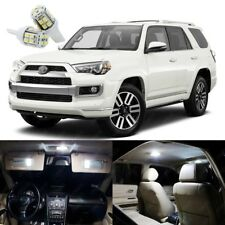 15 x Xenon White LED Interior Lights Package Kit For Toyota 4Runner 2014 - 2018