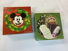 Vintage Springbok Mini Jigsaw Puzzles Mickey Mouse Miss Piggy Christmas Complete