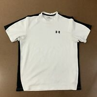 Under Armour Heat Gear Men's Small White Short Sleeve Athletic T-Shirt *Flaws*