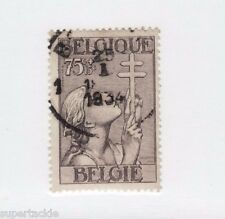 1933 Belgium B147 Θ used cds, 75c + 15c Tuberculosis Society Semi postal stamp