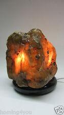 Achat Edelstein Tischlampe Flussachat Marmor Stein Sockel elektrisch