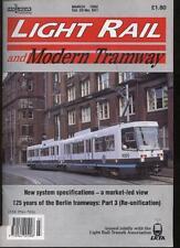 LIGHT RAIL AND MODERN TRAMWAY MAGAZINE - March 1992 - Vol. 55 - No. 651