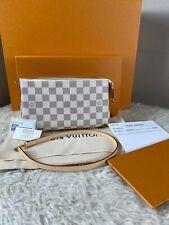 Authentic Louis Vuitton Damier Azur NM Pochette Accessories Shoulder Bag Pouch