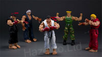 Street Fighter RYU KEN GUILE Character Figure Dolls Action Figures with Box