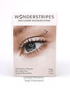 Wonderstripes Gr. S+M Schlupflider adé, Sofort Augenlidstraffung ohne OP, je 32x
