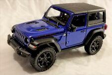 Kinsmart - 1:34 Scale Model 2018 Jeep Wrangler Rubicon Blue (BBKT5412DB)