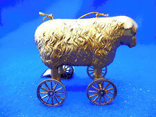 """CREATIVE COOP SHEEP ON WHEELS ORNAMENT NEW 4 1/2"""" BY 3 3/4"""""""