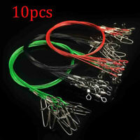 10pc/Set 50CM Fishing Trace Lures Leader Stainless Steel Wire Fishing Line 150LB