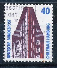 BRD 1988, Fm Sehenswürdigkeiten 40 Pfg., Rollenmarke m. Nr., gestempelt