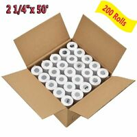 "200 Rolls 2 1/4"" x 50' Thermal Receipt Paper Roll for Mobile POS Thermal Printer"