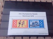 Alemania Deutsche Bundespost 1976 Juegos Olímpicos Montreal minipliego estampillada sin montar o nunca montada