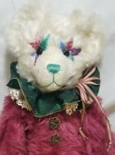 "Nancy Crowe ""Jester"" OOAK artist teddy bear mohair embroidered face mohair 12"""
