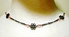 "2 Victorian Garnet Child Birth Necklaces (Mark NR & BO) Form 19"" Adult Necklace"