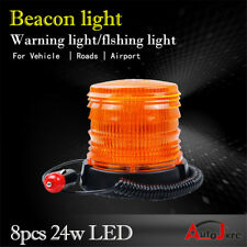 2xLED 12V BEACON REVOLVING Flashing Emergency WARNING LIGHT Amber 4X4 base light