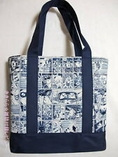 NEW JAPAN USAVICH CUTE BLUE Comics Pattern Print Shopping Shoulder Tote Bag