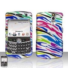 S. Rainbow Zebra Hard Case Cover BlackBerry Curve 8330