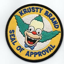 PATCH SIMPSONS KRUSTY BRAND SEAL OF GENEHMIGUNG PATCH